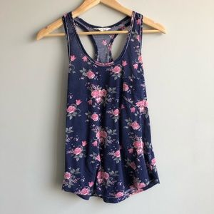 2 FOR $12 Floral Racerback Tank Top Size S